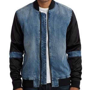 NWT True Religion  Jeans Contrast Sleeve Bomber